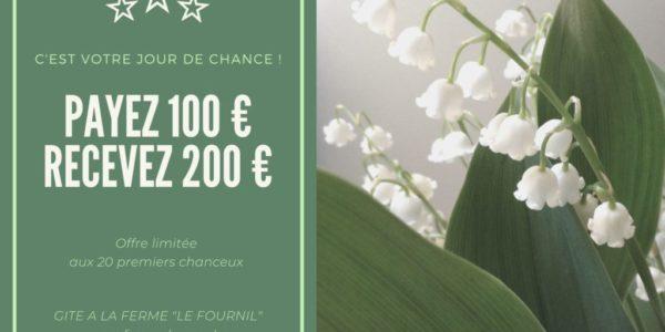 Payez 100€ et recevez 200€